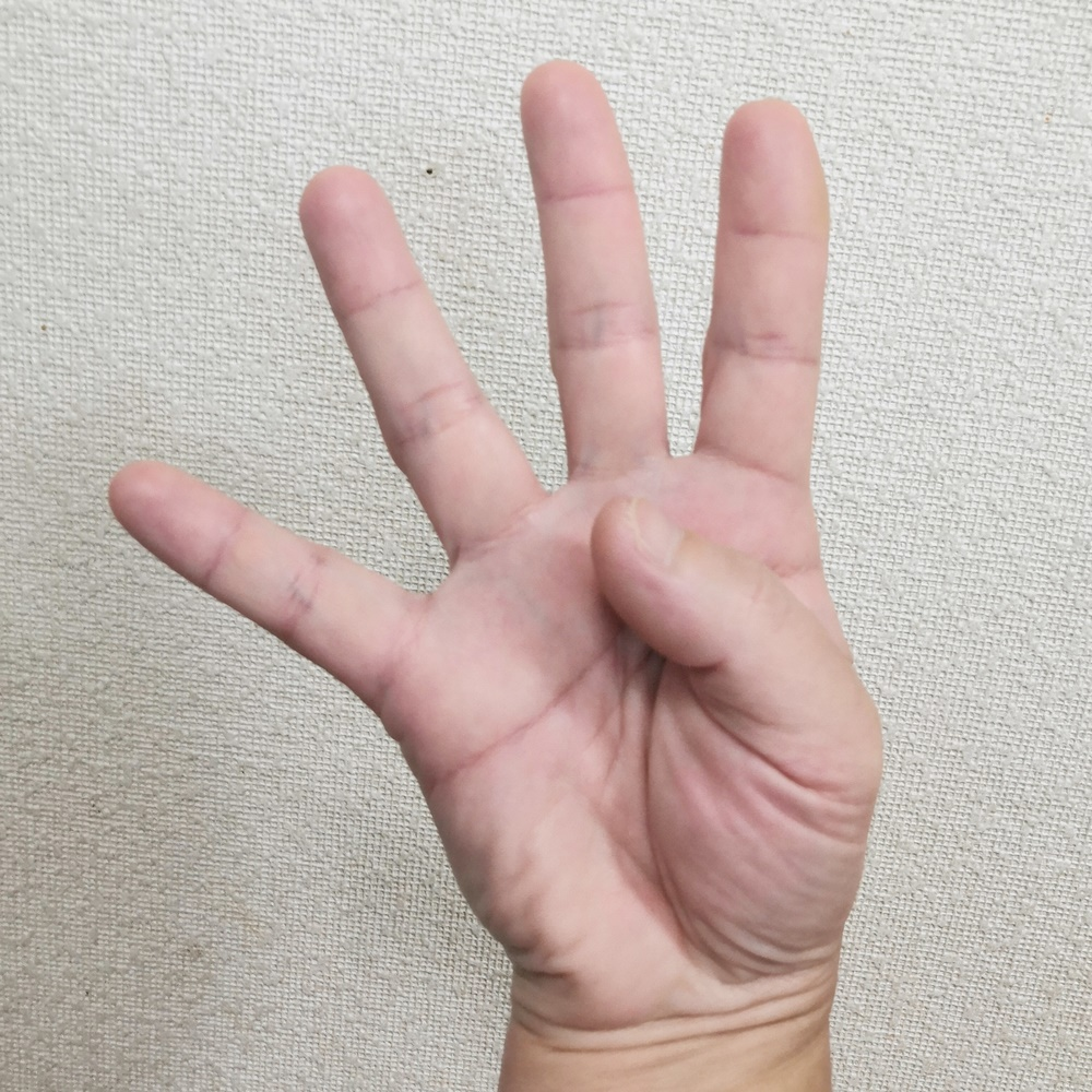 中国の4のフィンガー・サイン